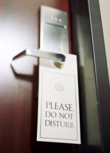 do not distrub